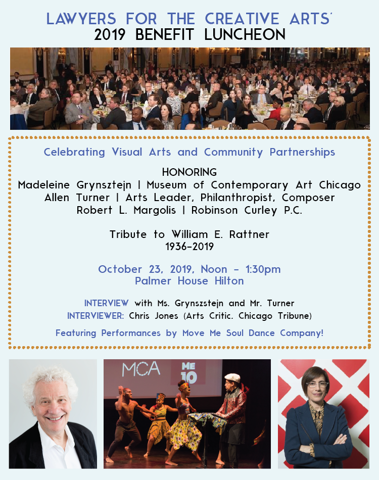 Lawyers for the Creative Arts - 2019 Benefit Luncheon - October 23, 2019