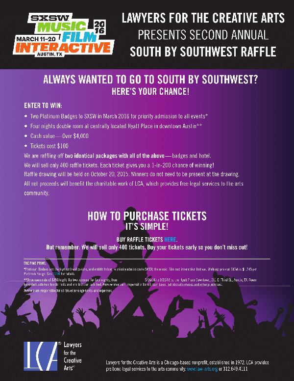 2015 LCA South by Southwest Raffle | Lawyers for the